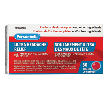 Image of product Personnelle - Relief Ultra-Strength Headaches, 80 units