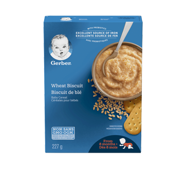 Gerber Wheat Biscuit Cereal, 227 g