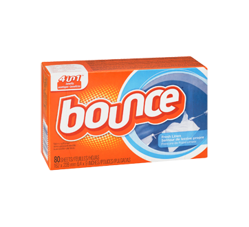 Image 2 of product Bounce - Dryer Sheets, 80 units, Fresh Linen