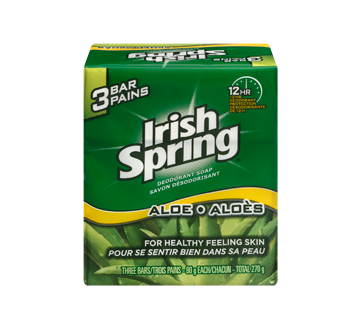 Image 1 of product Irish Spring - Deodorant Soap, 3 x 90 g, Aloe