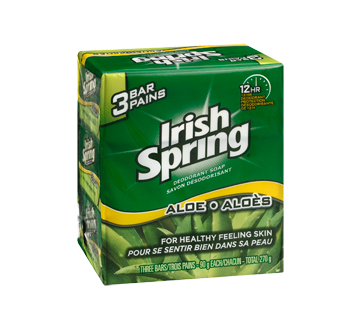 Image 2 of product Irish Spring - Deodorant Soap, 3 x 90 g, Aloe