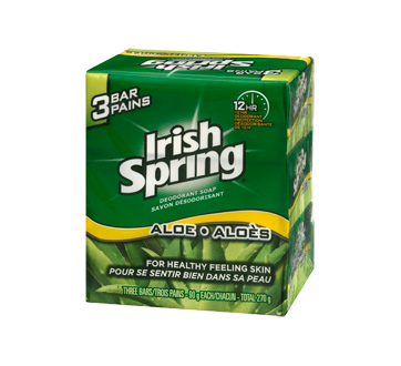 Image 3 of product Irish Spring - Deodorant Soap, 3 x 90 g, Aloe