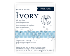 Image of product Ivory - Personal Size Bars, 10 x 90 g, Original