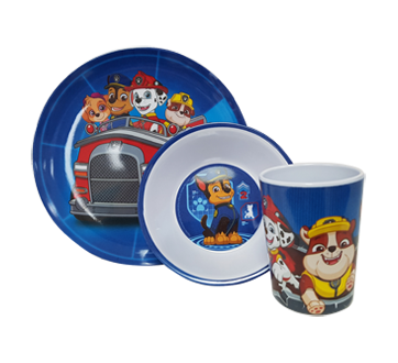 Image 2 of product Paw Patrol - 3-piece Chase and Friends Mealtime Set, 1 unit
