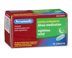 Image of product Personnelle - Sinus Medication Nighttime Relief Extra Strength, 24 caplets