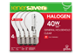 Thumbnail of product Globe Electric - Halogen Light Bulb, 4 units, 375 lumens, 3,000 life hours