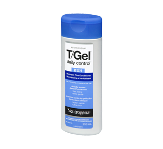 T/Gel Daily Control 2-in-1 Dandruff Shampoo, 250 ml