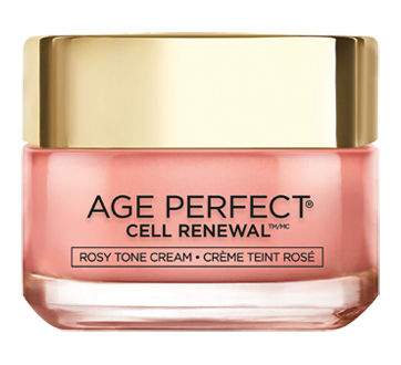 Image 1 of product L'Oréal Paris - Age Perfect Cell Renewal Tinted  Rosy Tone Day Face Cream, Fragrance-Free, Anti-Aging, 50 ml, LHA + Imperial Peony