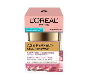 Image 2 of product L'Oréal Paris - Age Perfect Cell Renewal Tinted Rosy Tone Day Face Cream, Fragrance-Free, Anti-Aging, 50 ml, LHA + Imperial Peony