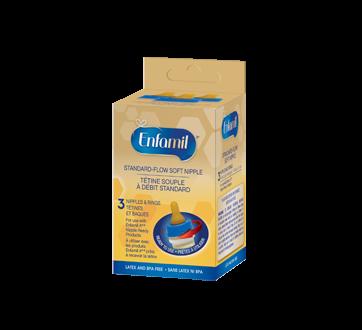Enfamil Enfamil Standard-Flow Soft Nipple, 3 units