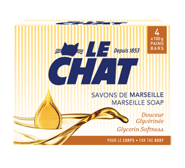 Marseille Soap for the Body, 4 x 100 g, Glycerin Softness