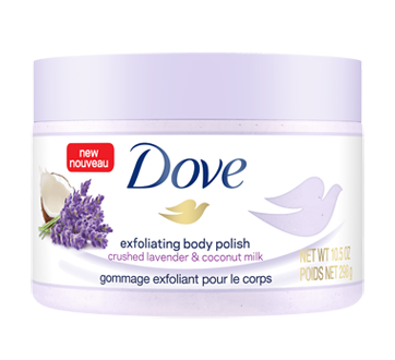 Image of product Dove - Exfoliating Body Polish, 298 g, Lavender & Coconut
