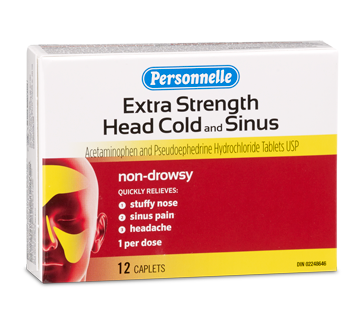 Image of product Personnelle - Head Cold and Sinus Extra Strength, 12 units