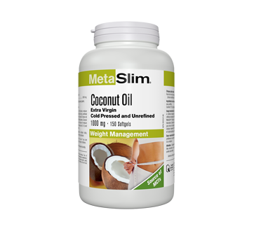 Image of product Webber - MetaSlim Coconut Oil Extra Virgin 1000 mg, 150 units