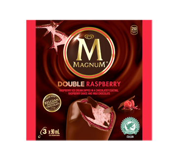Image of product Magnum - Double Raspberry Ice Cream Bar, 3 x 90 ml