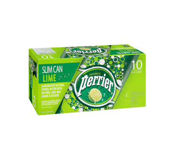 Image 2 of product Perrier - Carbonated Natural Spring Water Lime, 10 x 250 ml