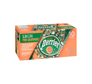 Image 2 of product Perrier - Carbonated Natural Spring Water Grapefruit, 10 x 250 ml