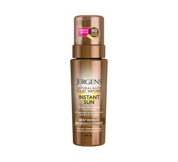Image of product Jergens - Natural Glow, Instant Sun Sunless Tanning Mousse, 180 ml, Deep Bronze