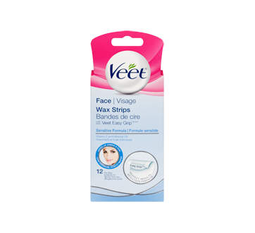 Image 3 of product Veet - Easy-Gel Precision Wax Strips Face Sensitive Skin, 14 units