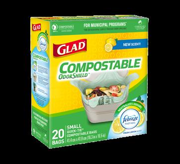 Compole Odourshield Quick Tie Bags 20 Units Small Lemon Scent
