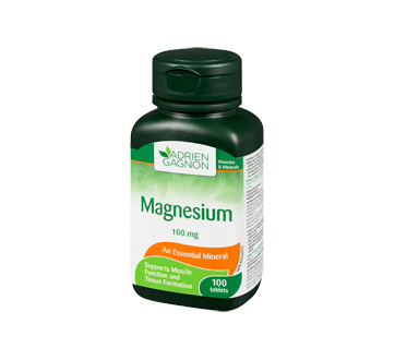 Image 1 of product Adrien Gagnon - Magnesium 100 mg, 100 units