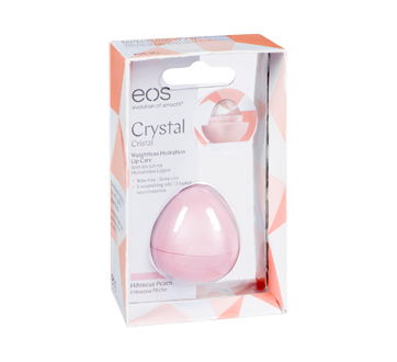 Image of product eos - Crystal Lip Balm, 1 unit, Peach Hibiscus