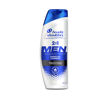 Men Advanced Series 2 in 1 Charcoal Shampoo, 380 ml