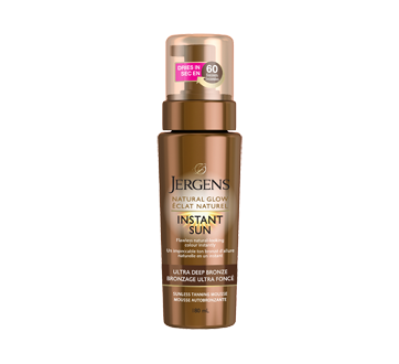 Natural Glow, Instant Sun Sunless Tanning Mousse, 180 ml, Ultra Deep Bronze