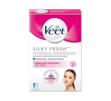 Silky Fresh Face Hair Removal Kit Sensitive Skin 2 X 50 Ml Veet Depilatory Cream Jean Coutu