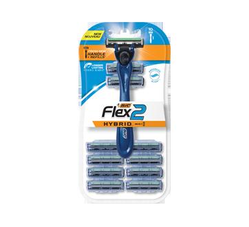 Flex2 Hybrid Shaver & Cartridges, 11 units