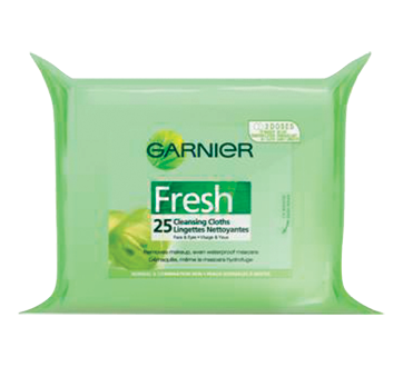 Image 2 of product Garnier - Fresh - Cleansing Cloth, 25 units
