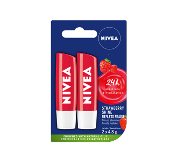 Strawberry Shine Caring Lip Balm, 2 x 4.8 g