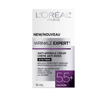 Image 2 of product L'Oréal Paris - Wrinkle Expert 55+ Calcium Anti-Wrinkle Eye Cream, 15 ml