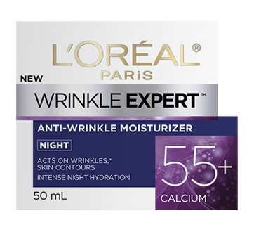 Wrinkle Expert 55+ Calcium Anti-Wrinkle Night Moisturizer, 50 ml