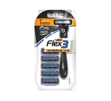 Image 2 of product Bic - Flex3 Hybrid Shaver & Cartridges, 6 units