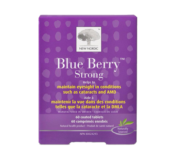 Image 1 of product New Nordic - Blue Berry Strong Ocular Tablets, 60 units