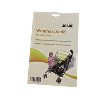 Weathershield for strollers, 1 unit