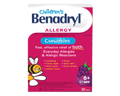 Image of product Benadryl - Benadryl for Kids 12.5 mg, 20 units, Grape