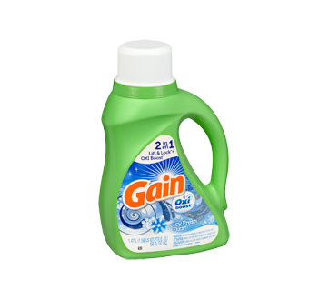 Image 2 of product Gain - Coldwater Liquid Laundry Detergent with Oxi Boost 26 Loads, 1.47 L, Icy Fresh Fizz