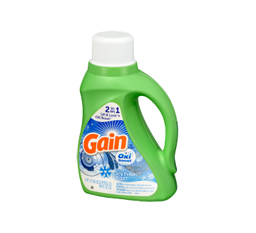 Image 3 of product Gain - Coldwater Liquid Laundry Detergent with Oxi Boost 26 Loads, 1.47 L, Icy Fresh Fizz