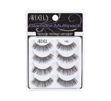 Glamour Multipack False Eyelashes, 1 unit, 105 - Black