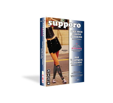 Image of product Supporo - Knee High Elastic Stocking, 20-25 mmhg, X-Large, 1 unit, Fumo