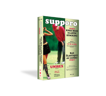 Image of product Supporo - Knee High Unisex Elastic Stocking 12-16 mmHg, XX-Large, 1 unit, Beige
