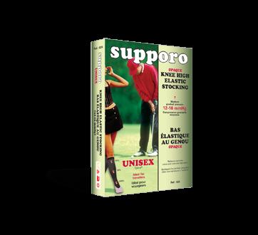 Image of product Supporo - Knee High Unisex Elastic Stocking 12-16 mmHg, Large, 1 unit, Black