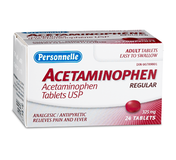 acetaminophen 325 mg 24 units personnelle acetaminophen for