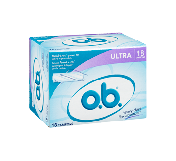 Image 2 of product O.B. - Tampons Ultra Heavy Days, 18 units