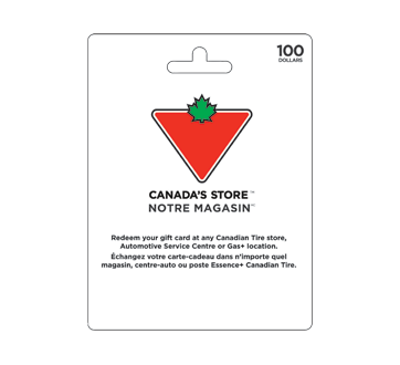 $100 Canadian Tire Gift Card, 1 unit