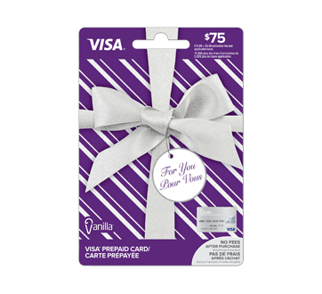 $75 Vanilla Visa Prepaid Card, 1 unit