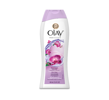 Fresh Outlast Body Wash, 400 ml, Soothing Orchid & Black Currant