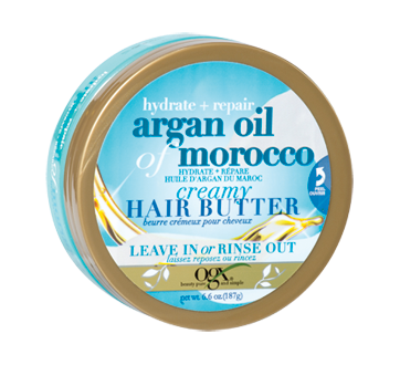 Image of product OGX - Extra Strength Argan Oil of Morocco, Creamy Hair Butter, 187 g